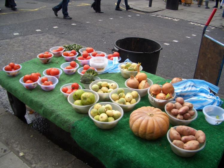 LONDON , Portobello's organic fruits stall