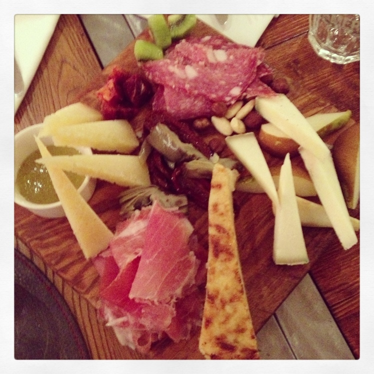 Tuscan ham & salame , sheep cheese, figs&ginger jam etc etc...