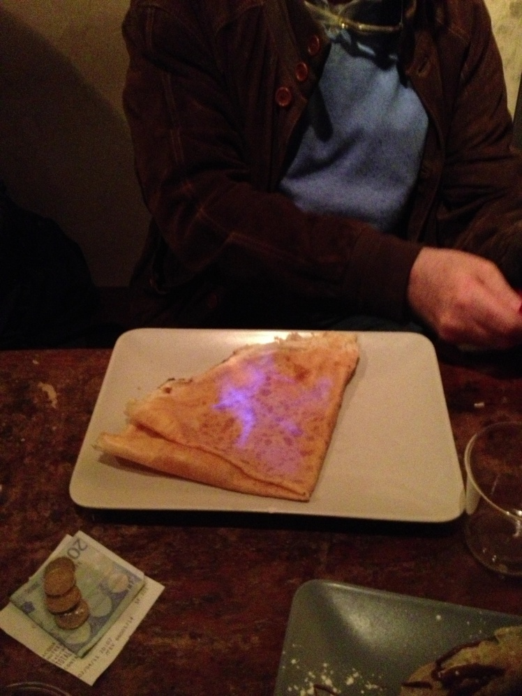 Crepe flambé with Grand Marnier à Florence