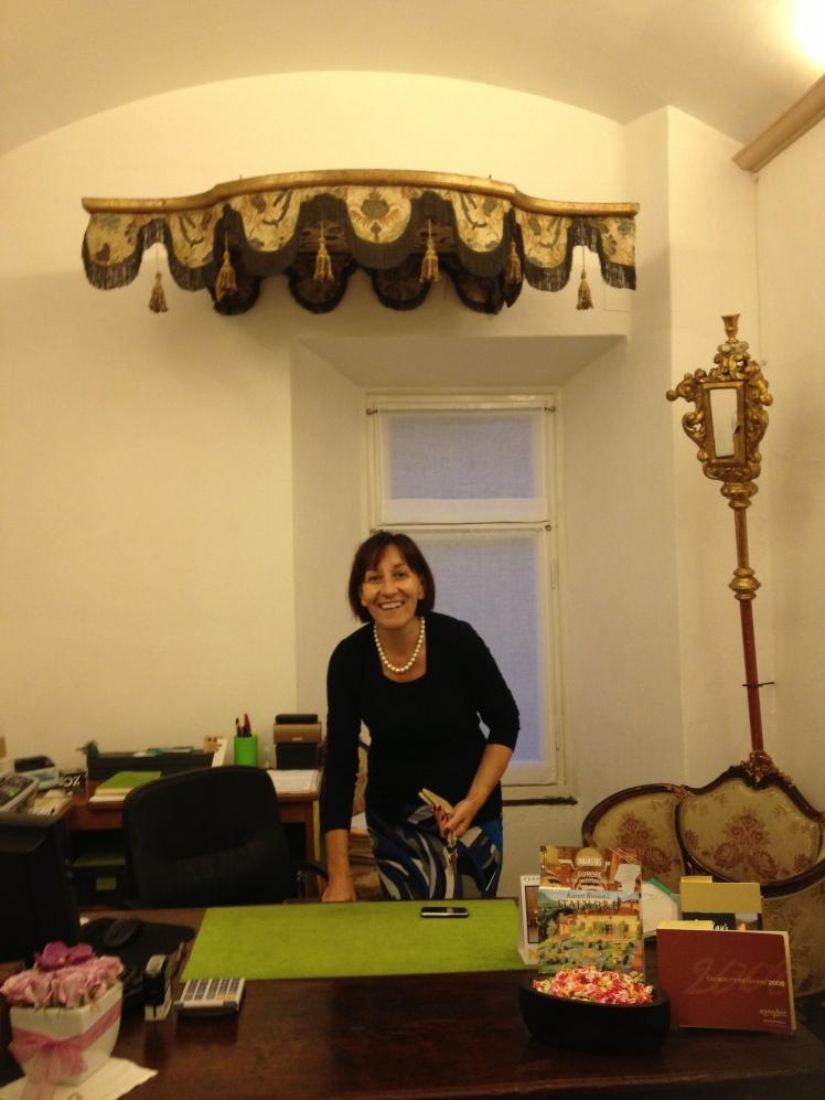 Welcome by Orietta, the owner of Abbadia San Giorgio, Moneglia