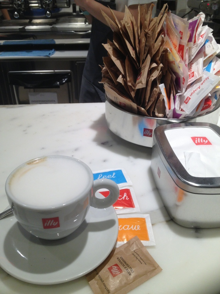 Eataly ~Rome a cappuccino with Illy caffé