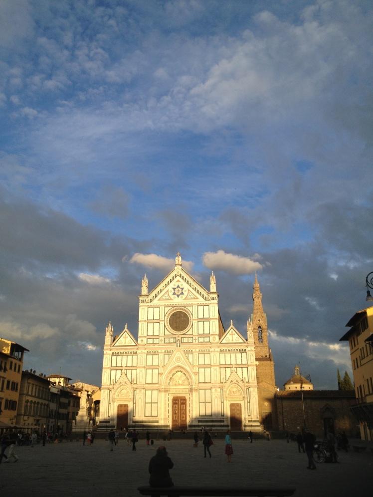Firenze ~ Florence Santa Croce Church at sunset