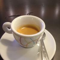 A real Italian ( creamy ) ESPRESSO by Illy Caffè in Rome