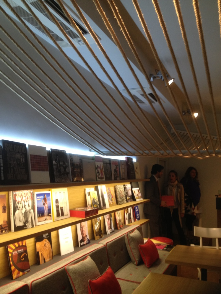 Illy Caffè Roma - upstairs an art book  library for you
