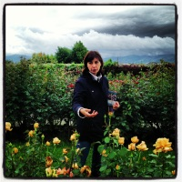 Beatrice Barni & her roses open a magic  world to visitors