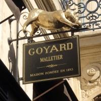 Paris, France : exclusive bags by Goyard