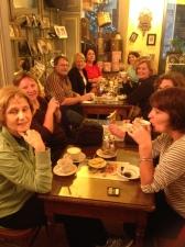 having afternoon tea!