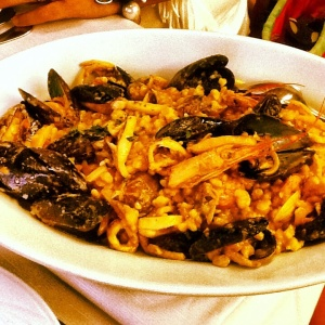 fregola with seafood