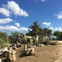 Sardinia : granite cave near the seaside