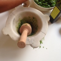 Cooking class in Liguria :  how to make Pesto alla genovese