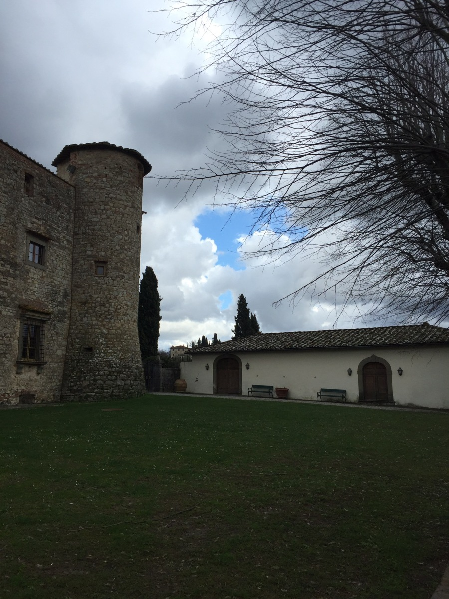 Tasting Tuscan Chianti wine in a castle dated 1256!