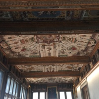 Depression remedies are written on the Uffizi ceilings!